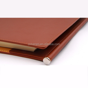 fashion security officers emboss leather custom notebook manufacturer