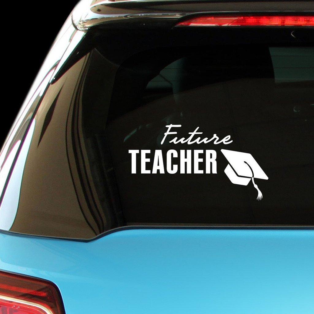 ShirtMania FUTURE TEACHER Career Occupation Car Laptop Wall Sticker
