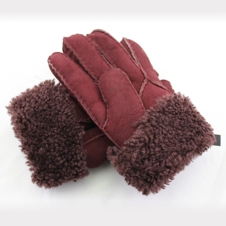 women Pigsuede double face glove lining fake fur