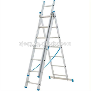 China Manufactured New Aluminum Domestic Double & 3 Triple Section Extension Ladders