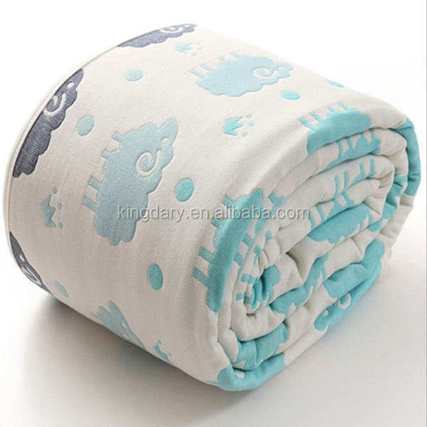New Style Sheep Elephants and Star Jacquard Baby Blanket Towel With Elegance