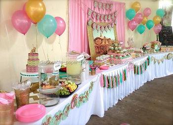tassel garland kit party idea pastel dessert tables decorations