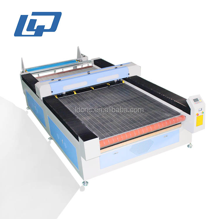 Fabric co2 laser cutter /auto feeding textile laser cuting co2 machine