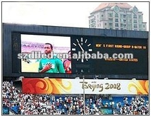 2012 new invented P10 outdoor red high brightness temperature and humidity led display