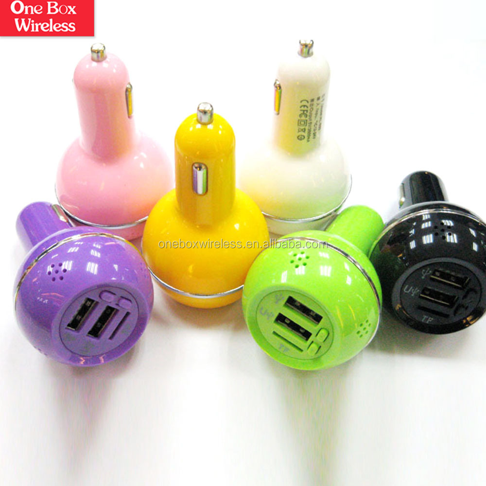 2015 New Design 3 in 1 Smart Mini Dual USB Car Charger With Car MP3 and Aromatherapy Perfume Holder Function