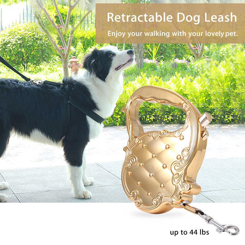 Dog Leash Pet Auto Leash Retractable Luxury Rope Lead Puppy Walking Leads Cat