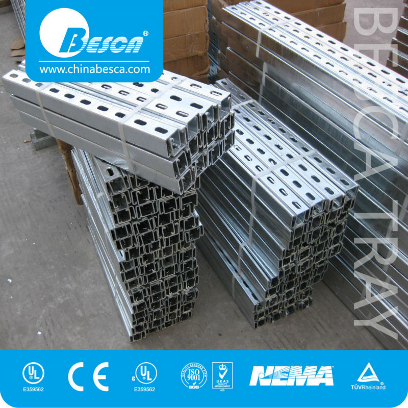 Slotted Steel Strut C Channel With UL CUL Certificate