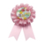 Factory handmade ribbon flower award ribbon rosette for party festival celebration wedding