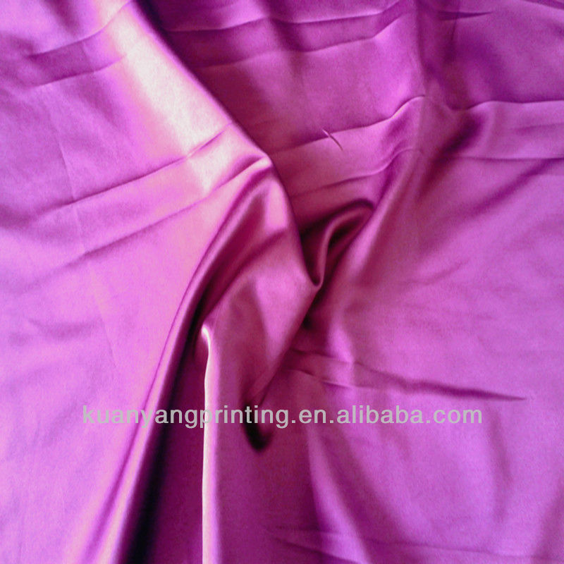stock woven 100%satin recycle purple solid color trousers