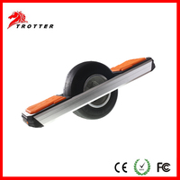 Trotter one wheel self balancing electric scooter with LED light