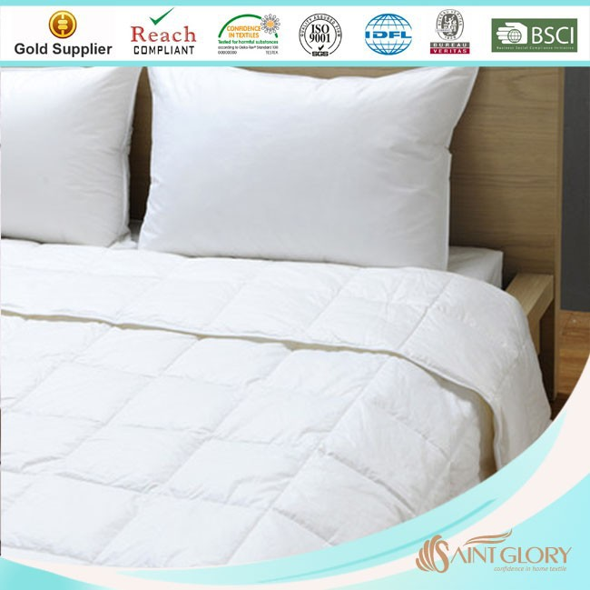 plain white classic style microfiber quilted quilts