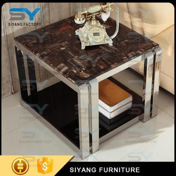 2 Tier Meeting Room Side Table With Stainless Steel Frame Marble Top   Buy  Modern Side Table,High Quality Phase Wired Side Table,Phase Wired Coffee ...