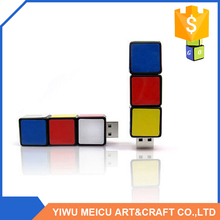 Best seller unique design customized logo puzzle cube USB flash drive