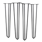 "DIY Hairpin Legs 3 Rods Table Legs Metal Hairpin Table Legs 16""/18""/22""/24""/28""/30""/34"" Inch for Coffee Table Modern Desks"