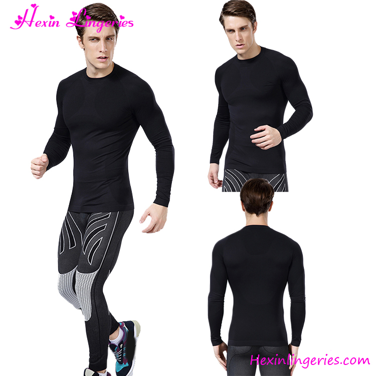 Wholesale Rash Guard Compression Shirt Mens Sport Fitness Gym Wear