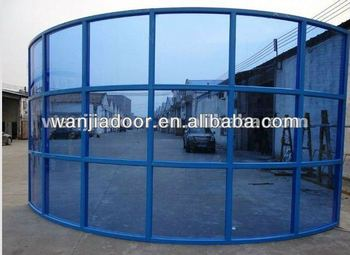 curved interior glass wall/exterior building glass walls/glass ...
