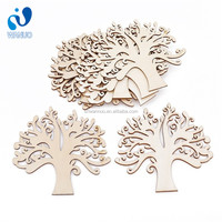 Wanuocraft Blank Plywood Wooden Tree Embellishments Christmas Ornaments for DIY Crafts
