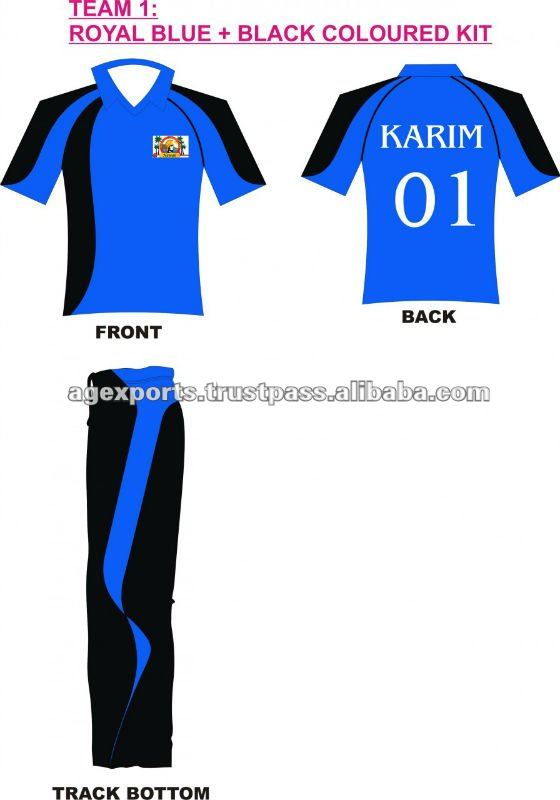 Cricket Jersey With Numbers