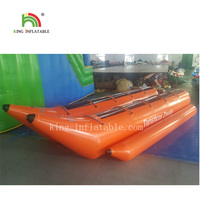 10 Persons Inflatable water games flyfish banana boat for sale