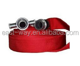 Single jacked PVC lined red fire hose