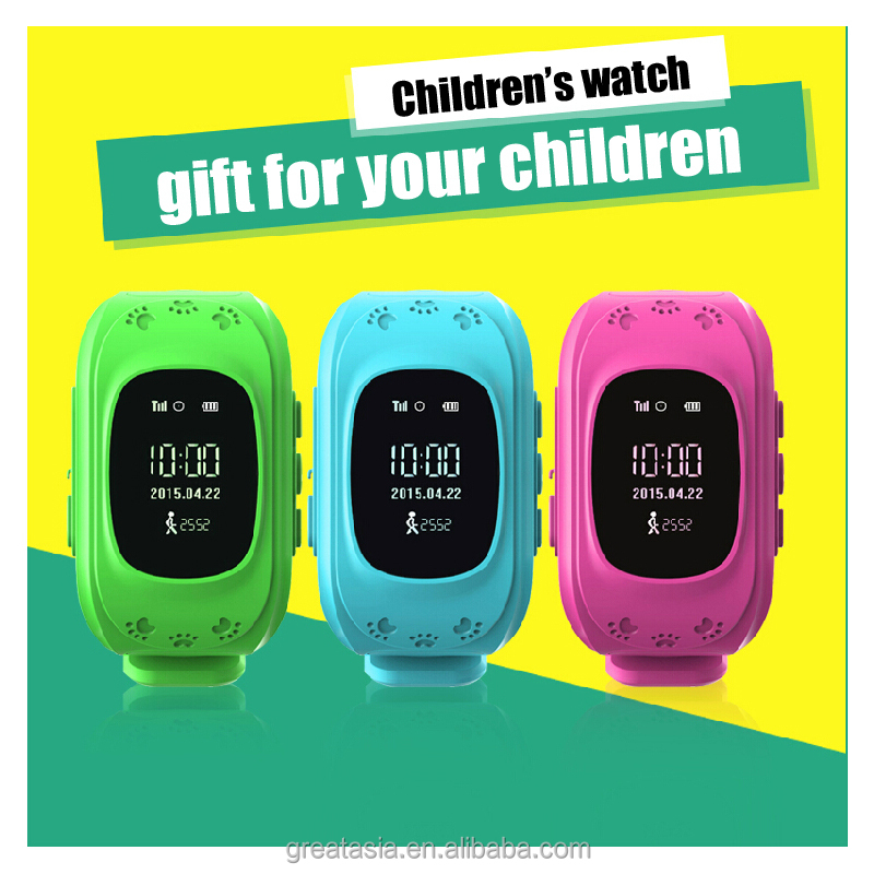 2015 Special Design Kids GPS GSM Wristband Watch Q50 With MTK Ublox Chip Two Way Communication Android IOS APP