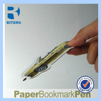 Promotion New Design Paper Bookmark Ball Pen / bookmark pen / Paper ballpen