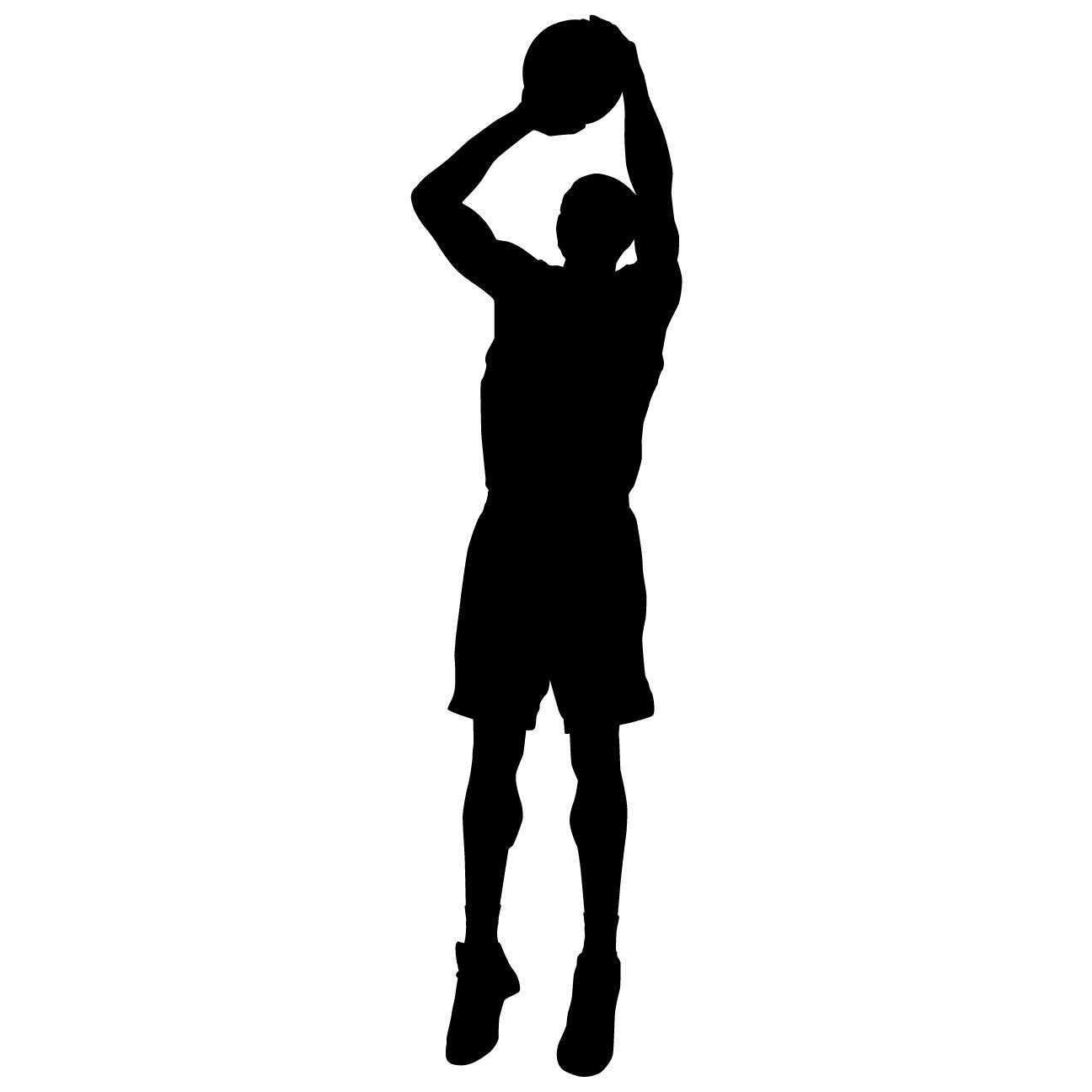 Buy Basketball Wall Decal Sticker 9 Decal Stickers And Mural For Kids Boys Girls Room And Bedroom Sport Vinyl Decor Wall Art For Home Decor And Decoration Basketball Player Silhouette