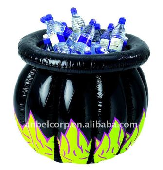 halloween inflatable witches cauldron as ice barrel