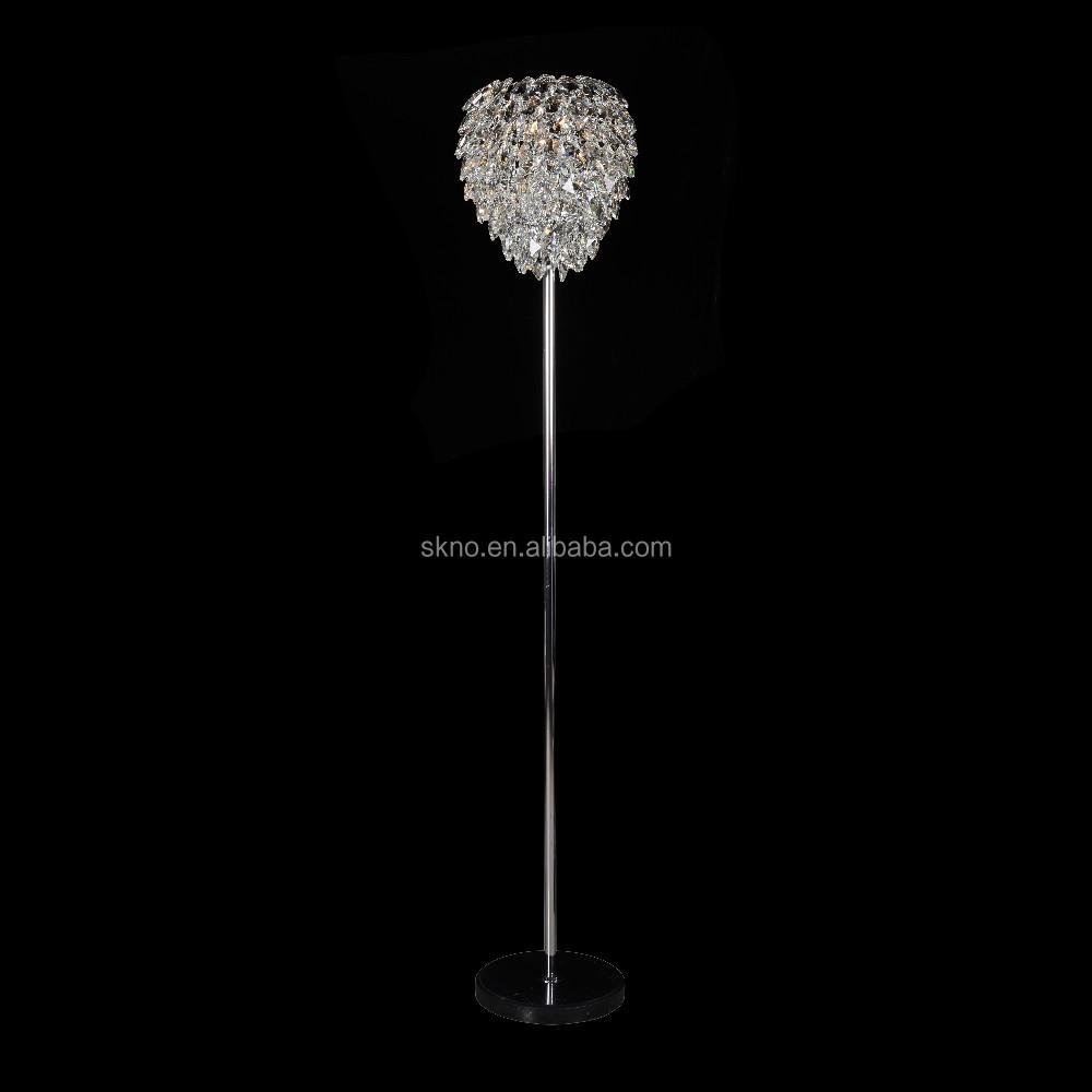 Modern elegant floor lamp k9 crystal chandelier floor lamp sk 20072 buy modern floor lampcrystal chandelier floor lamp product on alibaba com