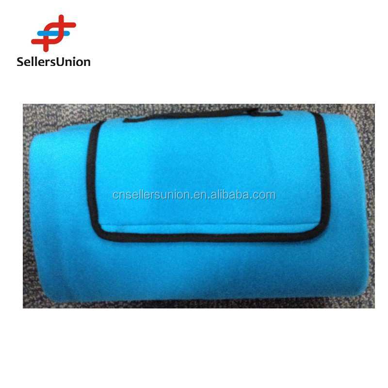 2015 hotselling fleece rollup outdoor camping mat for picnic and hiking PM16