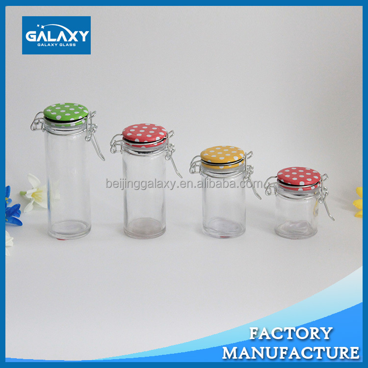 hot saled glass jars with CLIP lid and rubber locking lid Sold on Alibaba