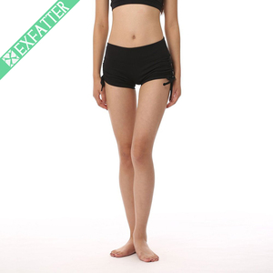 Bamboo Gym Contrast Panel Women Yoga Shorts