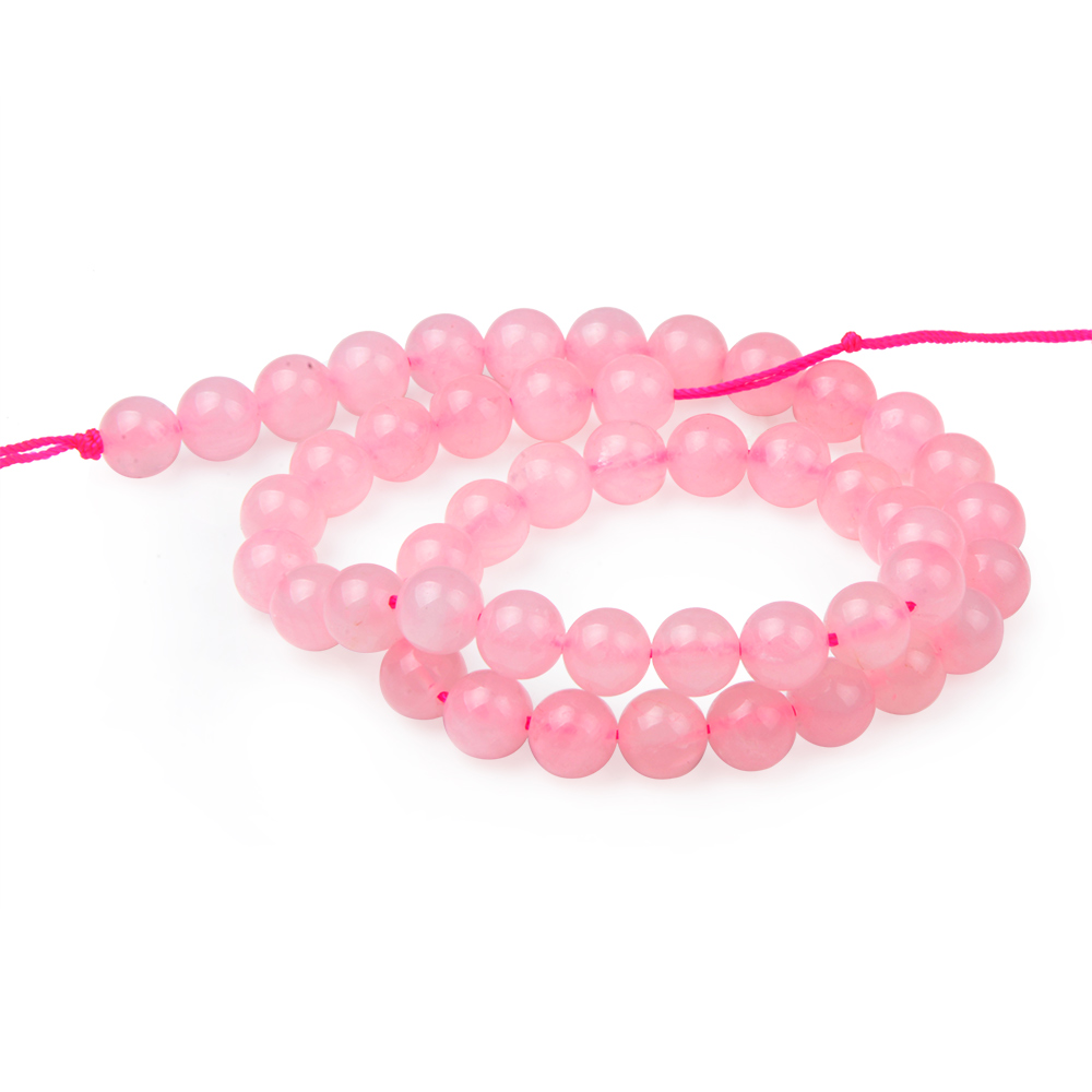 Pink Nature Stone Crystal Rose Quartz Round DIY Loose Bracelet Beads for jewelry Making with 5 sizes for Choice