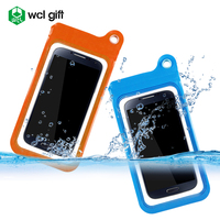 Hot selling fancy bag customized PVC case waterproof mobile case passed SGS IPX8 with eyelet for hanging on wall kitchen