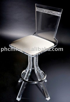 Chinese Manufacturer Best Quality Custom Design Clear Acrylic/Plexiglass  Bar Stools/bar Chairs/