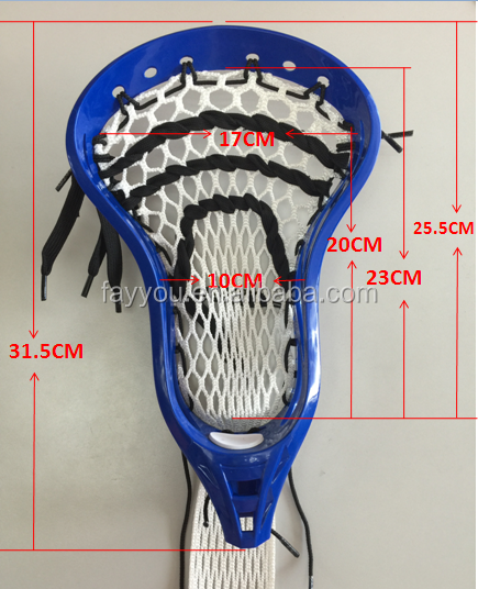 2016 HOT wholesale Material de nylon Adulto cabeça de lacrosse