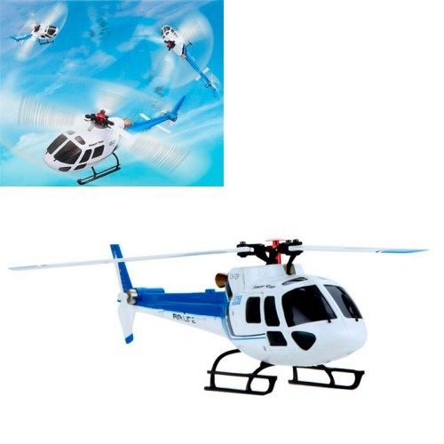 WLtoys V931 RTF 6CH Brushless Motor Flybarless RC 3 Blade AS350 Scale Helicopter(Blue)