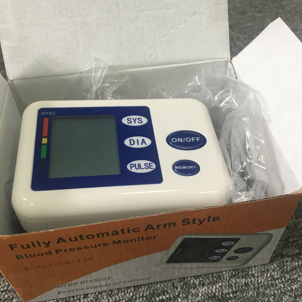 Arm digital blood pressure monitor with back light