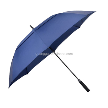 30 Inch 8 Panels Size Windproof Two Canopy Golf Umbrella With High Quality Auto
