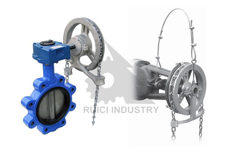 Chain Driven Valves : China custom cast iron chain wheel butterfly valve buy