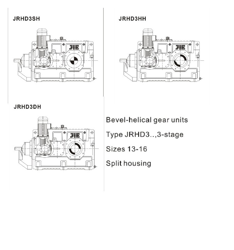 JRHD series bucket elevator gear units
