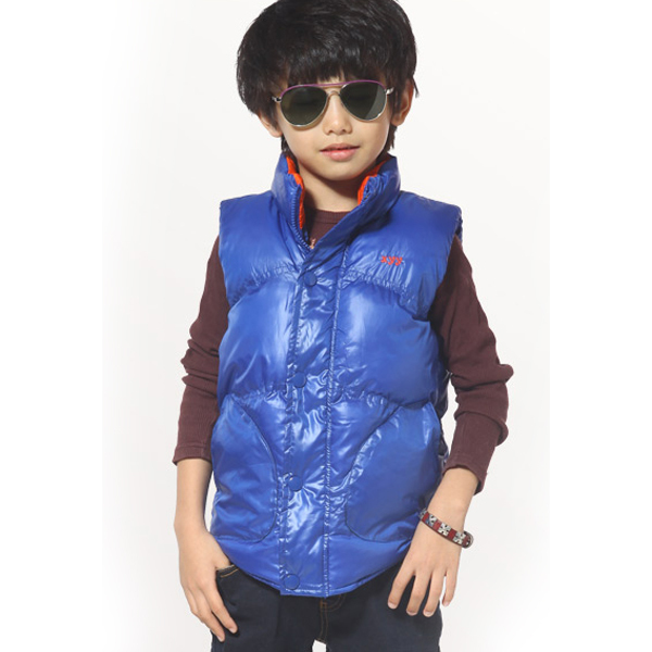 Cute Boys Vest Coats Solid Color Fashion Kids Waistcoats Size 100-140 Top Quality Children Winter Coats Thicken Style Outerwear