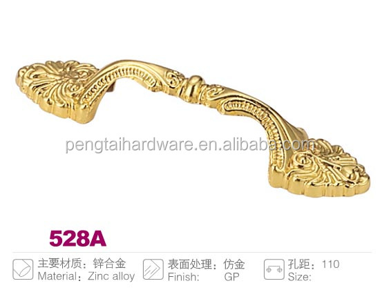 New type Gold finish Zinc Die-casting Furniture handle