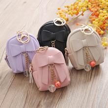 SWTR1782 Small backpack bow pendant zipper purse,Mini coin purse wallet wholesale