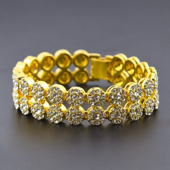 Jewlery Mens Gold Bracelet Hand Chain
