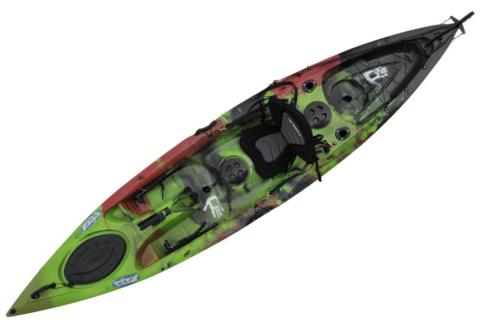 China native kayak single plastic fishing kayak with for Fishing kayak with foot pedals