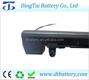 For high energy city bike 36v 500w e-bike battery 36v 10.4ah li ion rear rack battery pack