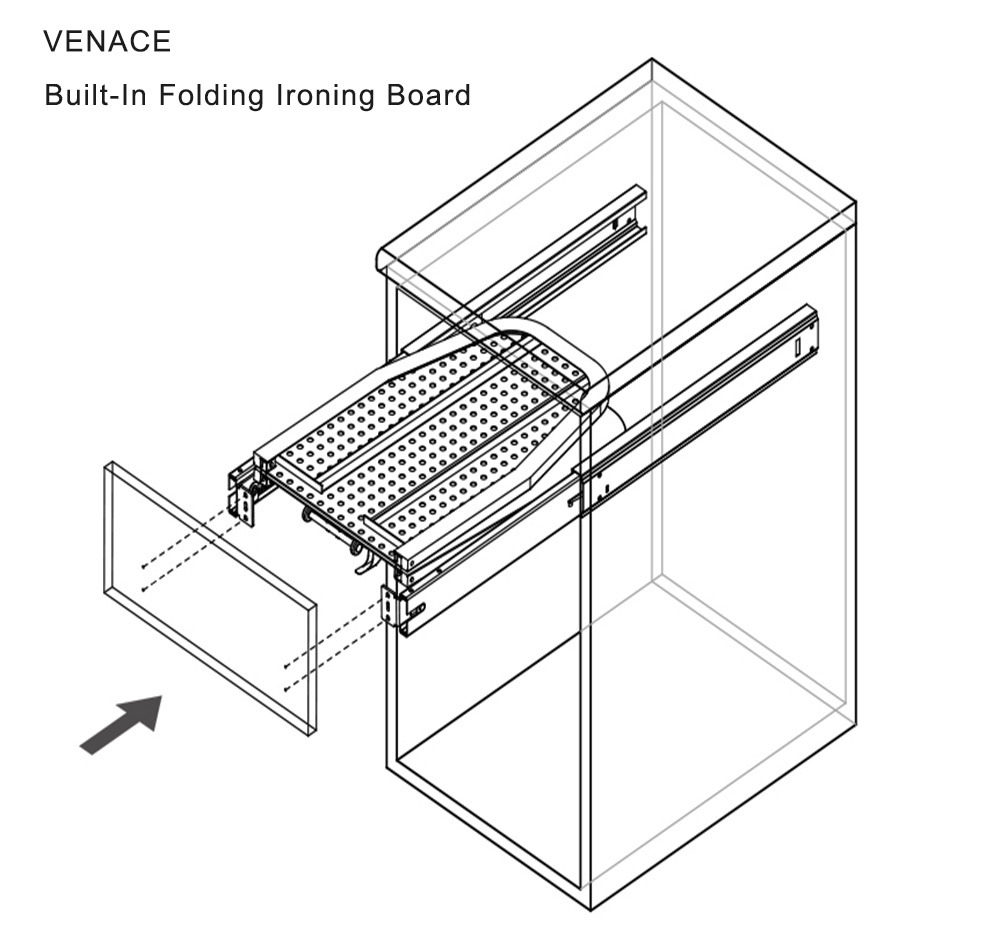 Cabinet Built In Folding Ironing Board Buy Cabinet