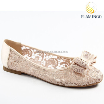 Flamingo 2015 latest odm oem high quality ladies and girls lace flamingo 2015 latest odm oem high quality ladies and girls lace ballerina wedding flat shoes with junglespirit Image collections