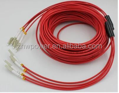 multimode 62.5/125 Fiber optical armoured patch cords 4 6core LC UPC armored cables jumper